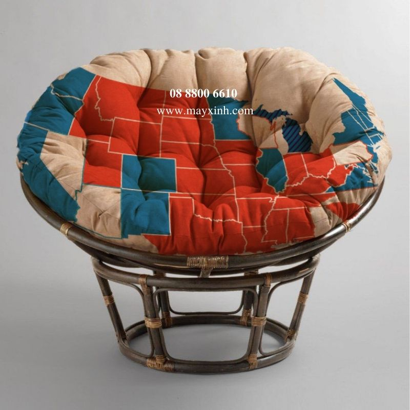 Ghế Papasan Red & Blue (US President 2020)